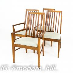Lane First Edition Mid Century Walnut Spindle Back Dining Chairs Set of 6 - 1870190