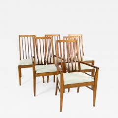 Lane First Edition Mid Century Walnut Spindle Back Dining Chairs Set of 6 - 1877937
