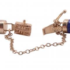 Lapis Lazuli Bar Link 14K Bracelet - 2074812
