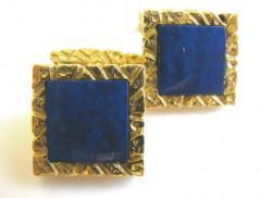 Lapis Lazuli and Gold Cufflinks c 1970 - 50841