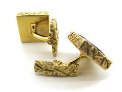 Lapis Lazuli and Gold Cufflinks c 1970 - 50843