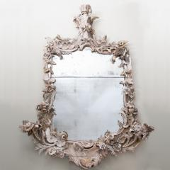 Large 18th century theatrical rococo mirror in the manner of Mathias Locke  - 1107145