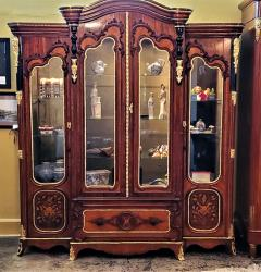 Large 19 Century French Rococo or Neoclassical Revival Style Vitrine - 1659866