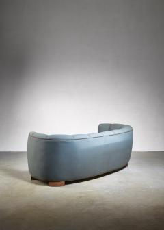 Large 1940s Danish sofa with petrol upholstery - 842175