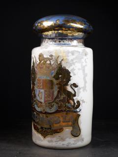 Large 19th C Pharmacy reversed painted Display Dispensing Jar - 1866929
