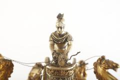 Large 19th Century French Bronze Figural Chariot Clock - 2108285