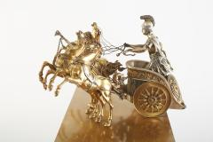 Large 19th Century French Bronze Figural Chariot Clock - 2108290