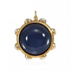 Large 19th Century Gold and Crystal Locket Pendant - 1094857