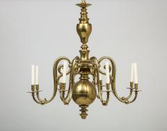 Large 19th c Dutch brass chandelier - 1387184