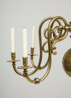 Large 19th c Dutch brass chandelier - 1387186