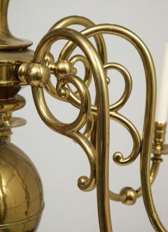 Large 19th c Dutch brass chandelier - 1387187