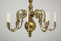 Large 19th c Dutch brass chandelier - 1387198