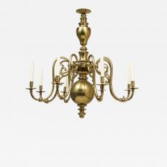 Large 19th c Dutch brass chandelier - 1447086