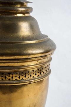 Large 19th century French gilt brass lidded Potpourri urn - 1107136