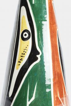 Large 50s vase with fish signed - 1782866