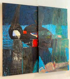 Large Abstract Painting by Francie Bishop Good 1990s - 1282796