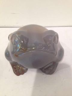 Large Agate with Captured Water Chinese Frog - 91872