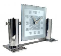 Large And Impressive Modernist Mantle Mirrored Clock Circa 1930 - 969273