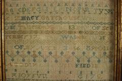 Large Antique Band Sampler c 1725 by Mary Gatehouse - 2062840