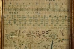 Large Antique Band Sampler c 1725 by Mary Gatehouse - 2062841