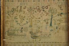 Large Antique Band Sampler c 1725 by Mary Gatehouse - 2062842