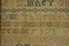 Large Antique Band Sampler c 1725 by Mary Gatehouse - 2062849