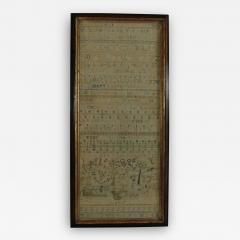 Large Antique Band Sampler c 1725 by Mary Gatehouse - 2064771