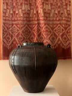 Large Antique Burmese Ceramic Jar from Martaban - 1097071