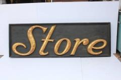 Large Antique Gilded Cast Iron Sign Store  - 689081