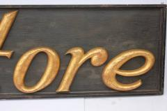 Large Antique Gilded Cast Iron Sign Store  - 689082