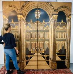 Large Art Deco Folding Screen or Room Divider by Fournier 4 Panels - 1638415