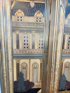 Large Art Deco Folding Screen or Room Divider by Fournier 4 Panels - 1638421