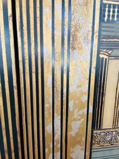 Large Art Deco Folding Screen or Room Divider by Fournier 4 Panels - 1638422