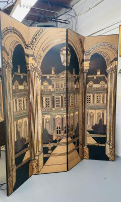 Large Art Deco Folding Screen or Room Divider by Fournier 4 Panels - 1638425