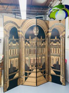 Large Art Deco Folding Screen or Room Divider by Fournier 4 Panels - 1638426