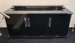 Large Art Deco Sideboard Black Lacquer and Nickel Germany circa 1930 - 1314411