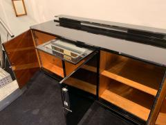 Large Art Deco Sideboard Black Lacquer and Nickel Germany circa 1930 - 1314425