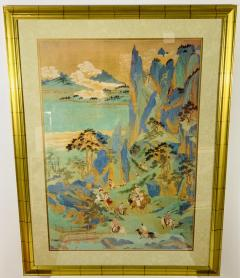 Large Asian Poster Framed and Matted in a Gilt Frame - 1729332