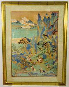 Large Asian Poster Framed and Matted in a Gilt Frame - 1729333