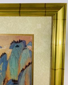 Large Asian Poster Framed and Matted in a Gilt Frame - 1729335