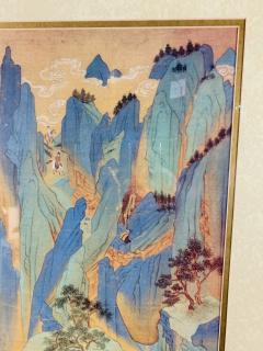 Large Asian Poster Framed and Matted in a Gilt Frame - 1729337