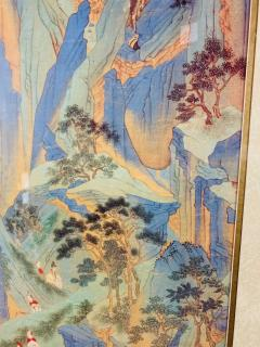 Large Asian Poster Framed and Matted in a Gilt Frame - 1729338