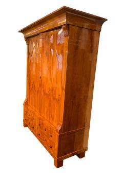 Large Biedermeier Armoire Cherry Veneer Rhineland Germany circa 1820 - 1576721