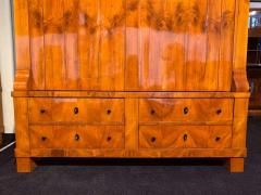 Large Biedermeier Armoire Cherry Veneer Rhineland Germany circa 1820 - 1576722