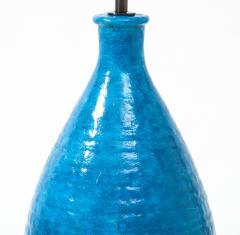 Large Blue Vintage Italian Ceramic Table Lamp circa 1960s - 1960958