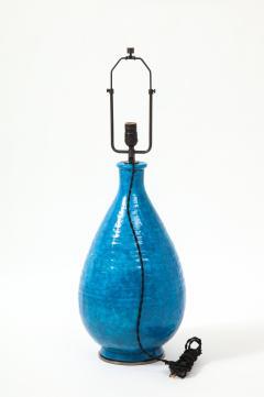 Large Blue Vintage Italian Ceramic Table Lamp circa 1960s - 1960962