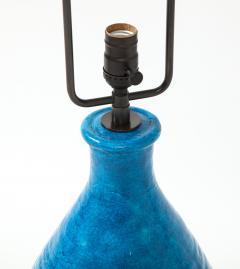 Large Blue Vintage Italian Ceramic Table Lamp circa 1960s - 1960963