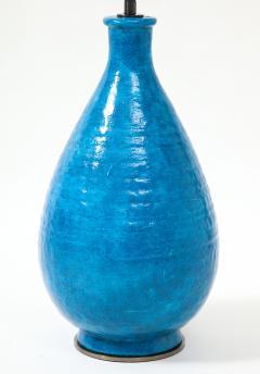 Large Blue Vintage Italian Ceramic Table Lamp circa 1960s - 1960966