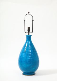 Large Blue Vintage Italian Ceramic Table Lamp circa 1960s - 1960967