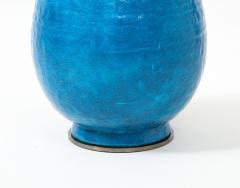 Large Blue Vintage Italian Ceramic Table Lamp circa 1960s - 1960968